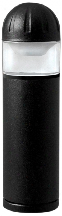 "Blqck Finish 8"" High Bollard Landscape Light (p9752)"