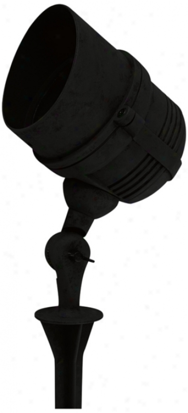 "Blwck FinishL ed 7"" High Flood Light (t5695)"