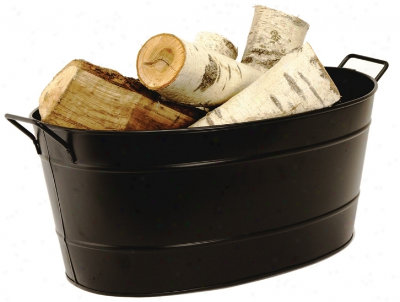 Dark Finish Steel Oval Tub (l0115)
