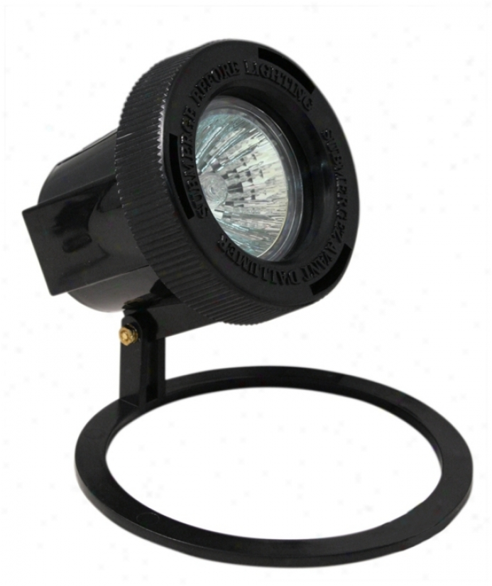 Black Finish Submersible Outdoor Well Light (p9754)