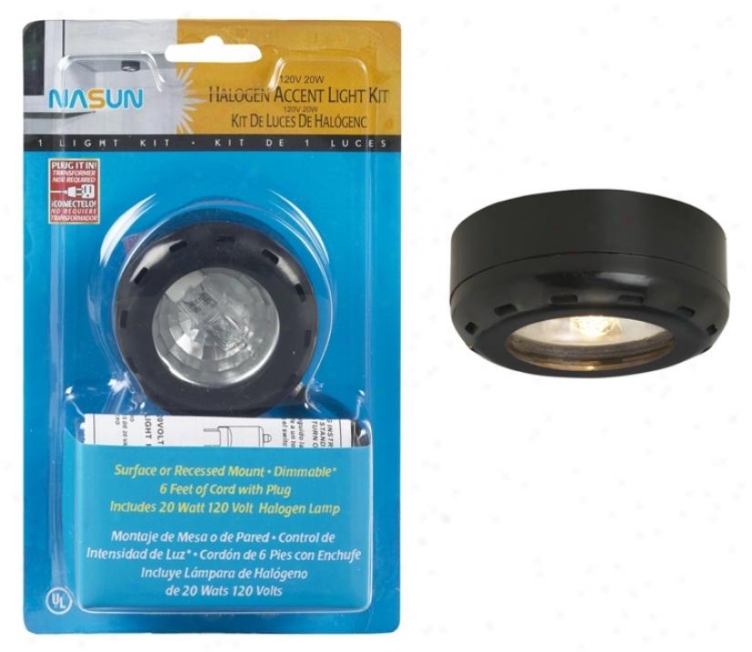 Black Halogen 20 Watt Single Puck Recessed Light Kit (85958)