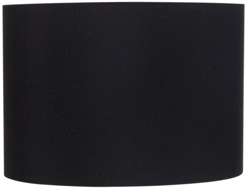 Black Hrdback Drum Shade 16x16x12 (spider) (t2014)
