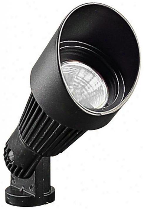 Black Hooded Dejected Voltage Landscape Spot Light (68742)