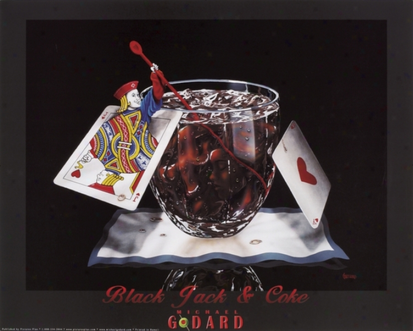 Black Jack And Coke Canvas Transfer Wall Art (51764)