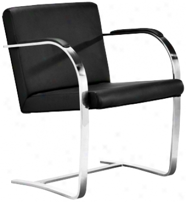 Black Leather Burn Armchair (g4233)