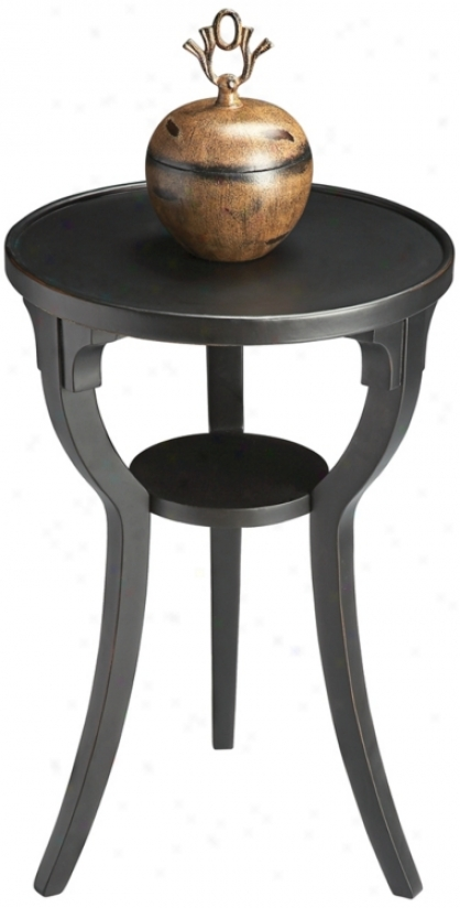 Black Licotice Wood Large Accent Table (u4767)