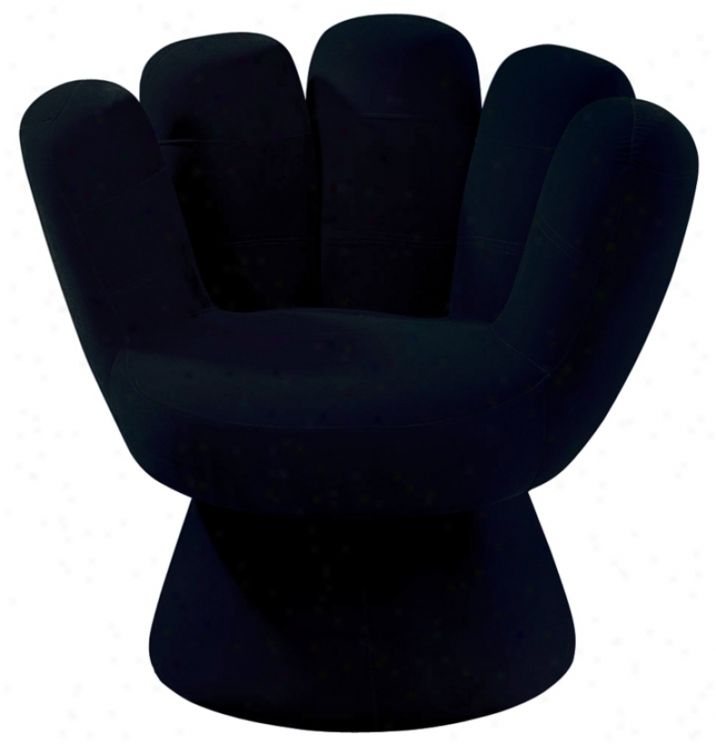 Black Mitt Chair (f4038)