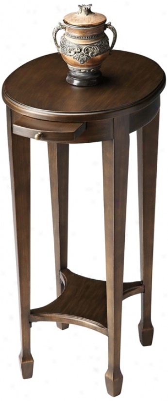 Black On Gold Tear Tray Accent Table (u4817)