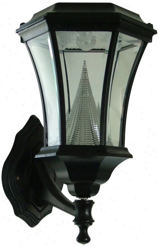 "Black Sollar Lamp 15"" High Outdoor Wall Light 2(2979)"
