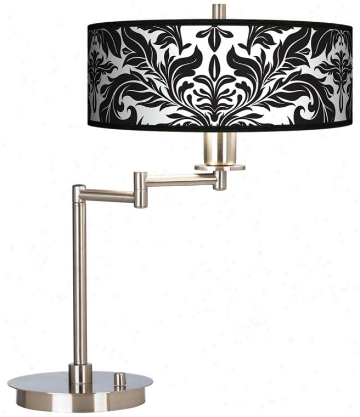 Black Tapestry Gickee Cfl Swing Arm Desk Lamp (61495-j6862)