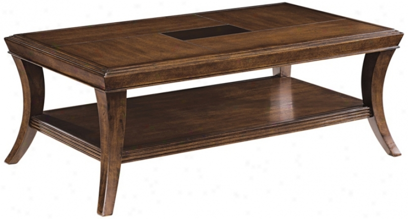 Blaine Sienna Finish Rectangular Cocktail Table (r5478)