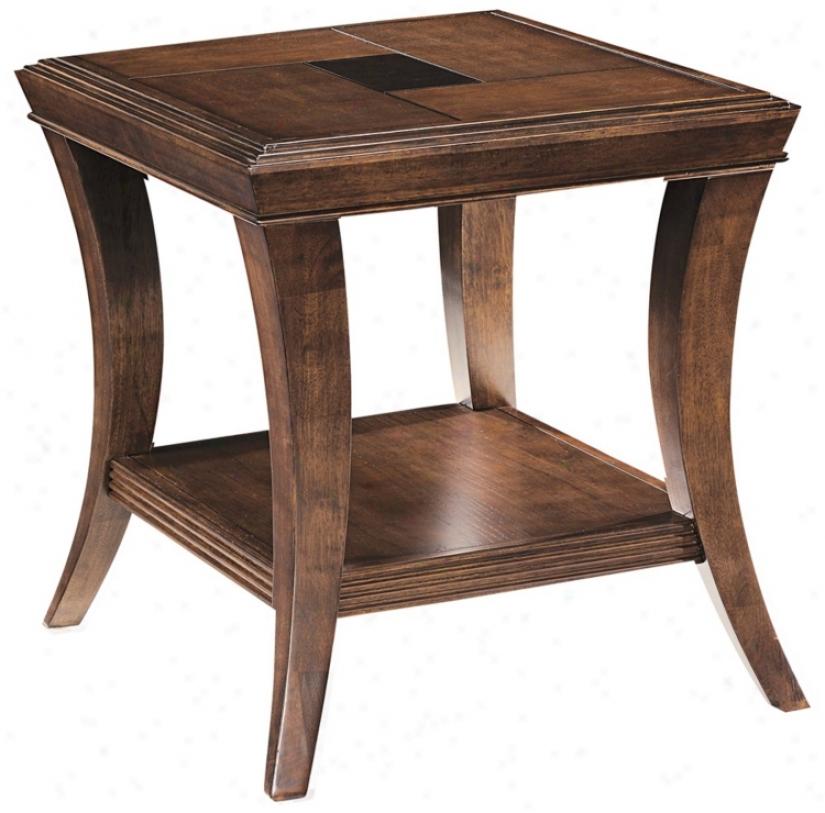Blaine Sienna Accomplish Rectangular End Table (r5477)