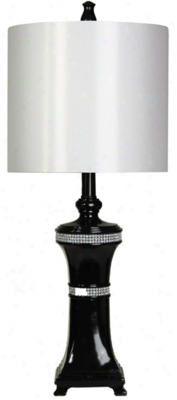 Bling Gloss Black Finish Table Lamp (t8391)