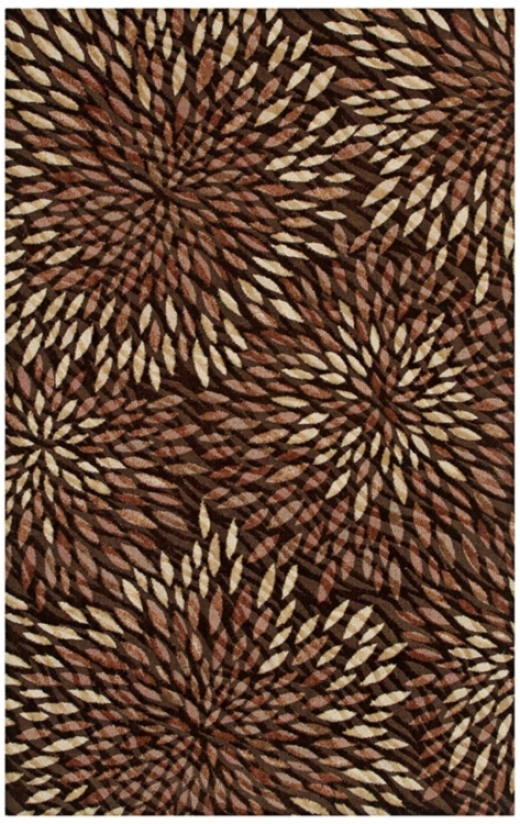 Flush Brown Area Rug (j5521)
