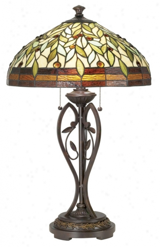 Blossoming Leaf Ane Vine Tiffany Table Lamp (07902)