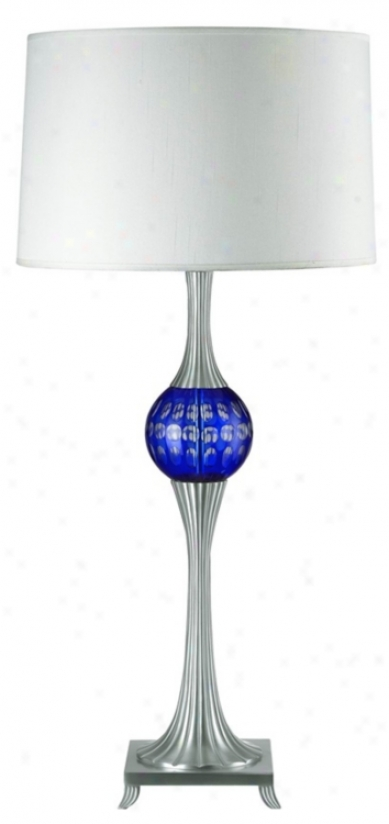 Blue Cut Glass Stratosphere Table Lamp (62760)