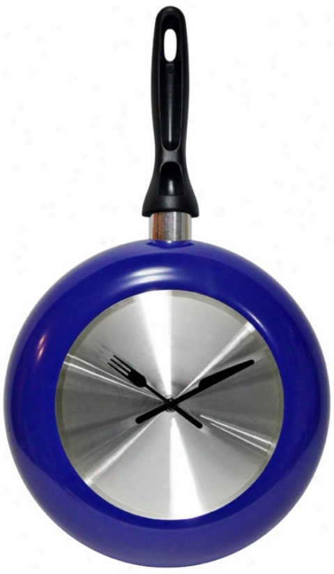 "Blue Frying Time 10 1/2"" Wall Clock (w1548)"