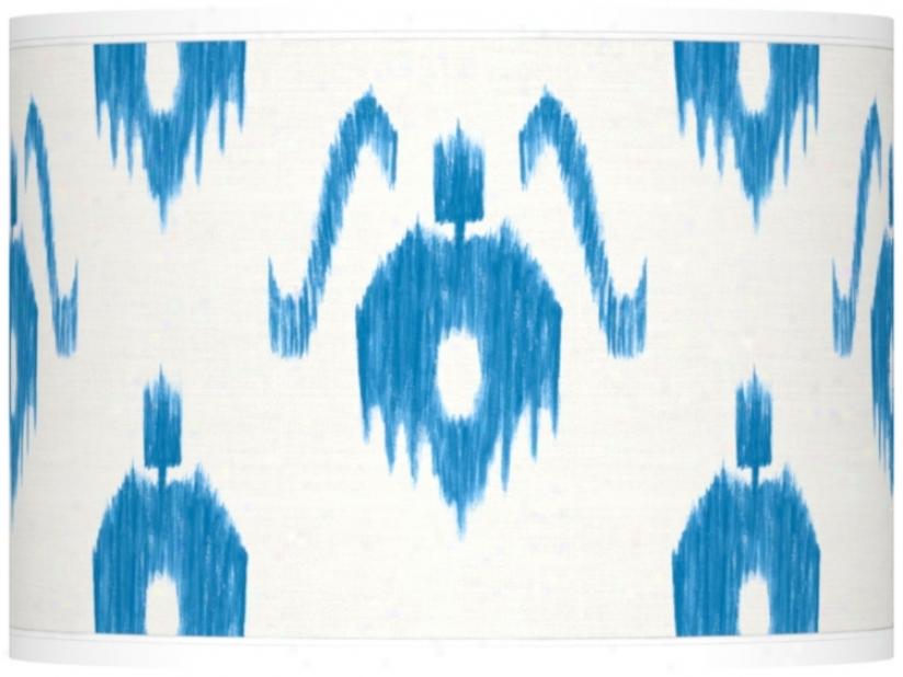 Pedantic  Ikat Pattern Giclee Lamp Shade 13.5x13.5x10 (spider) (37869-v8338)