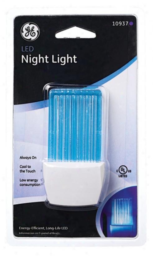 Blue Led Waterfall Night Light (61919)