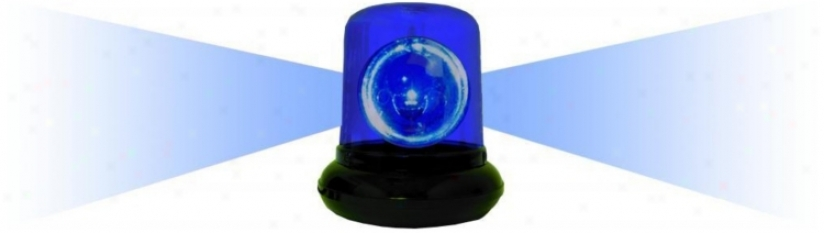 Blue Spinning Police Beacon Light (k3021)