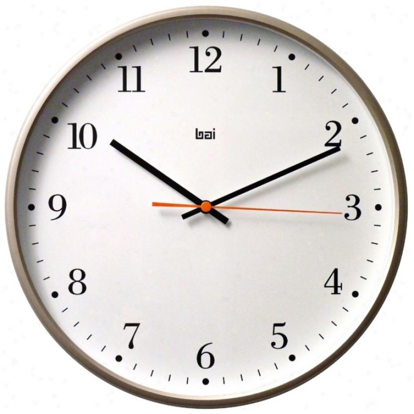 "Bodoni 16"" Wide Designer Wall Clock (v5348)"