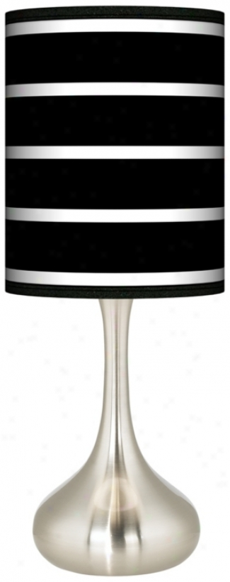 Bold Black Stripe Giclee Kiss Table Lamp (k3334-k9787)