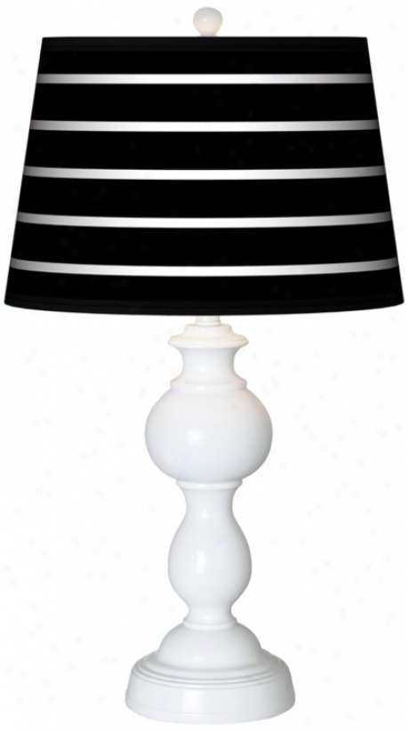 Bold Black Stripe Giclee Sutton Table Lamp (n5836-p1355)