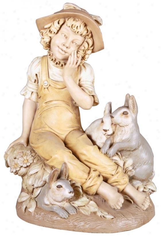Bonnie N' Bunnies Yard Decor Garden Statue (27618)