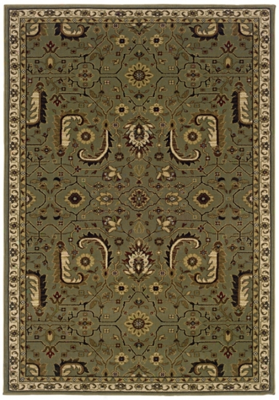 "Botanical Traditions Taupe 1' 10""x7' 6"" Area Rug (j1790)"
