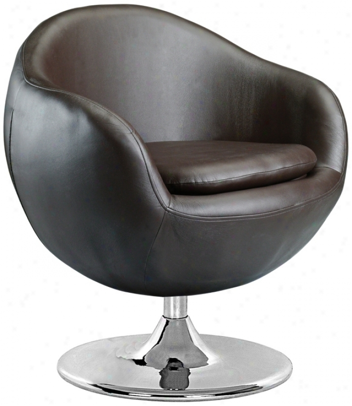 Bounce Espresso Leatherette Contemporary Armchair (g4242)