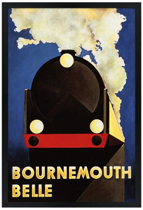"Bournemouth Belle 30"" High Blac Rectangular Giclee Wall Art (m8639-n2271)"