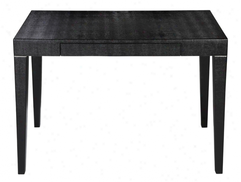 Boutique Black Faux Shagreen Desk (t2281)
