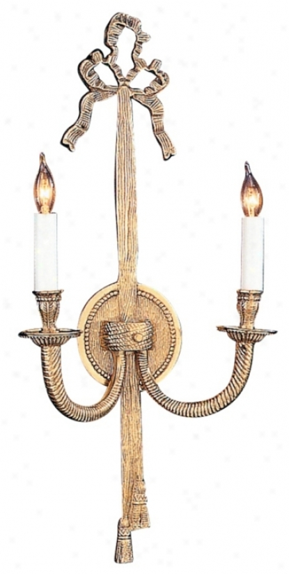 "Bow And Tassel 21"" High Two Light Wall Sconce (92599)"