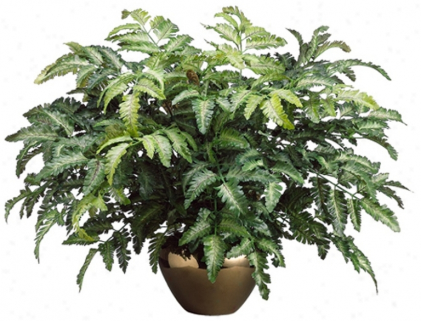 Bracken Fern In Ceramic Pot Faux Plant (n6764)