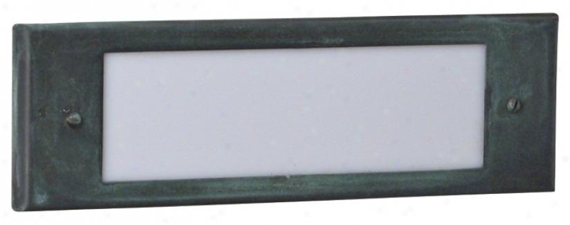 Brass Acid Verde Samped Brass Step Light (67036)