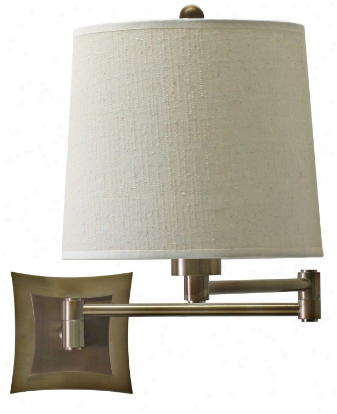 Brass Finish Bi-Level Backplate Plug-In Swing Arm Wall Lamp (39722) @ Lighting & Quality Home ...