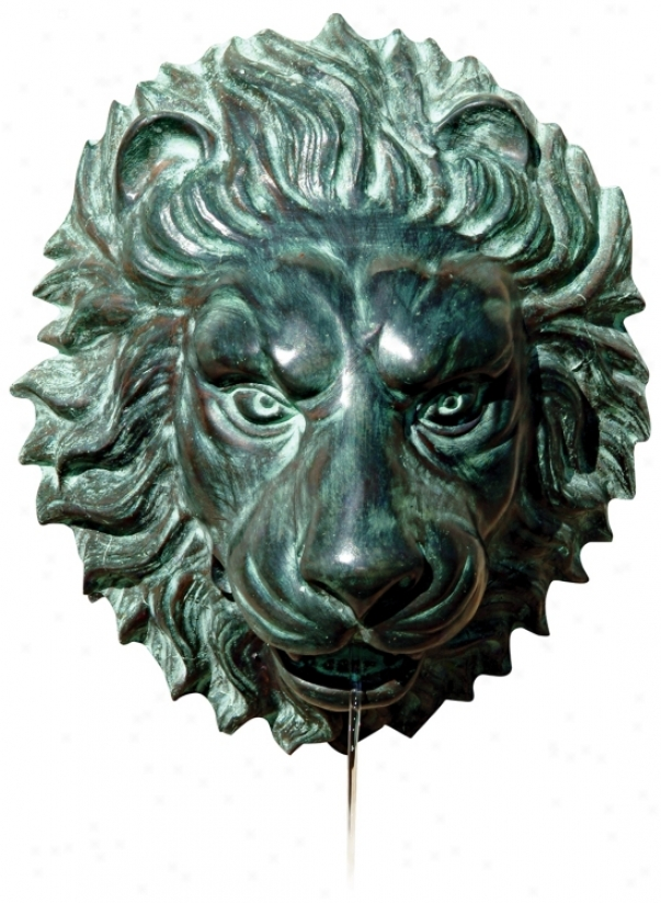 Brass Lion Head Wall Fountain (35457)