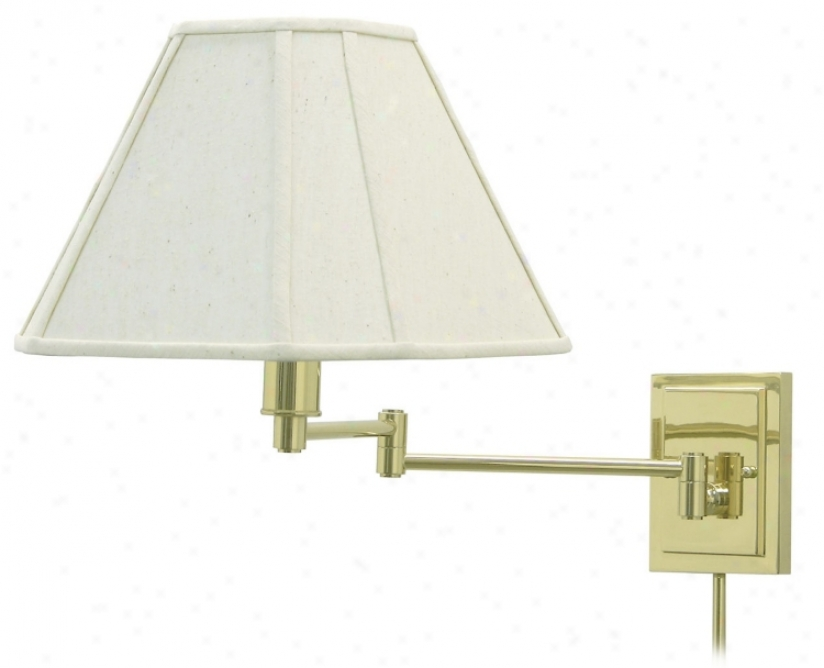 Wall Swing Arm Lamp Shades : Brass With Beige Shade Plug-In Swing Arm Wall Lamp (65867) @ Lighting & Quality Home Decor ...