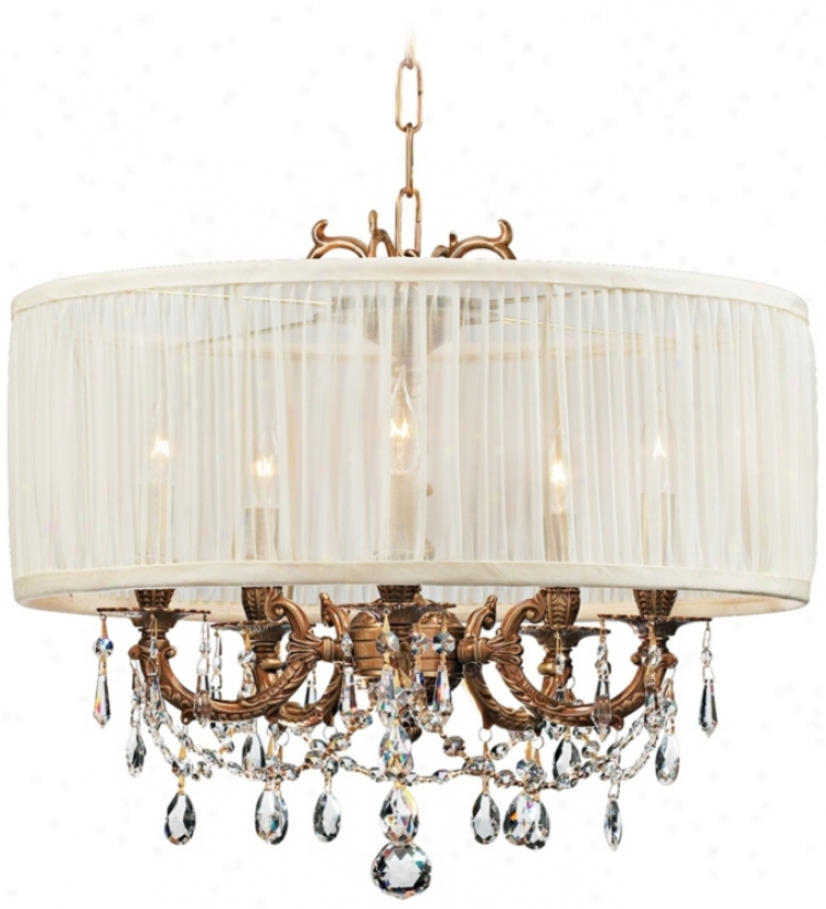 Brentwood Collection Aged Brass 5-light Crystal Chandelier (k4940)