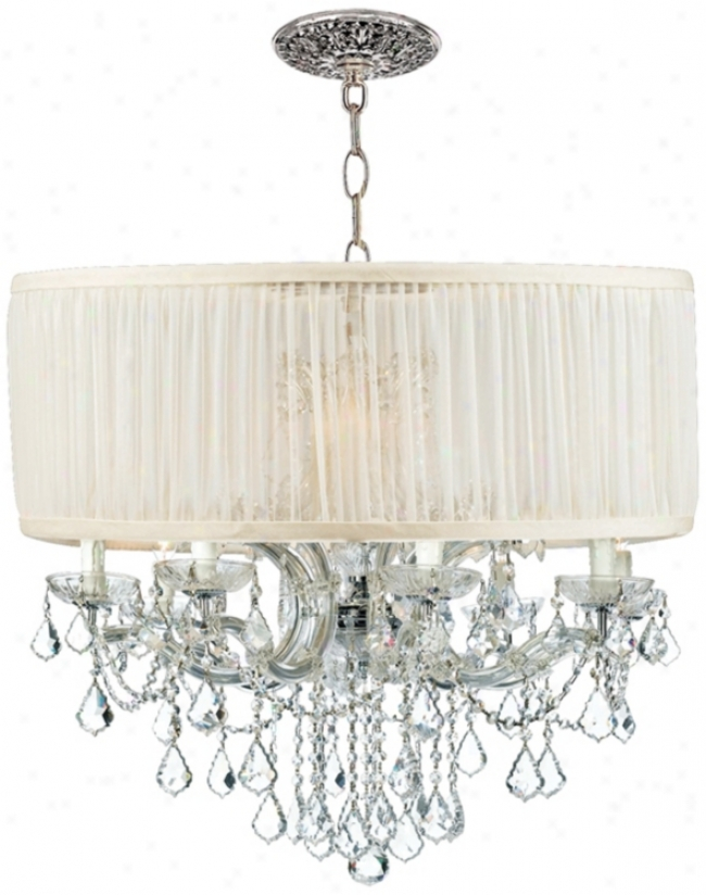 Brentwood Collection Chrome 12-light Crystal Chandelier (k4938)