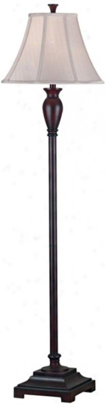 Brevard Dark Burgundy Floor Lamp (h9455)