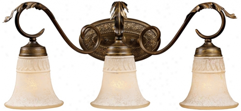 "Briarcliff Collection Weathered Umber 24"" Wide Bath Light (68930)"