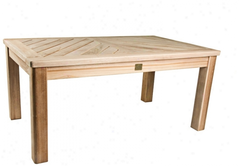Bristol Teak Wood Outdoor Occasional Coffee Table (u1311)
