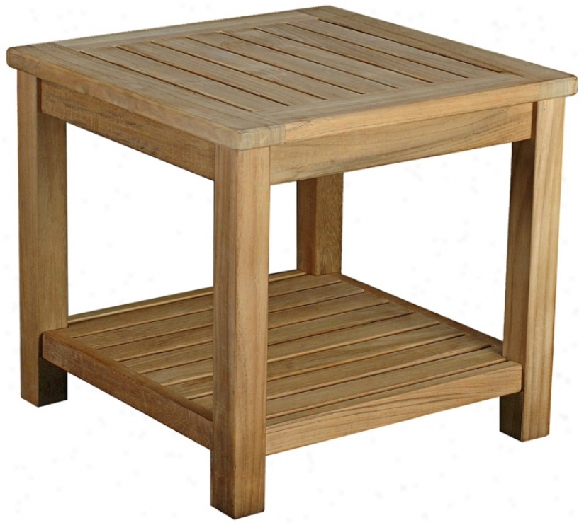 Bristol Teak Wood Ouutdoor Occasional Side Table (u1309)