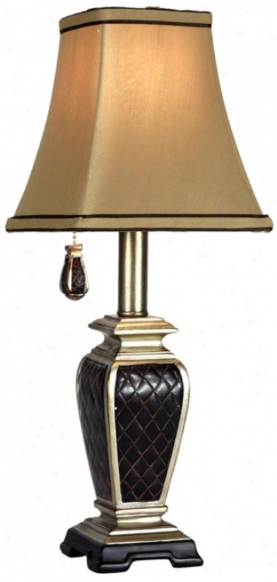 Bropmton Collection Black Diamond Pattern Accent Lamp (n1749)
