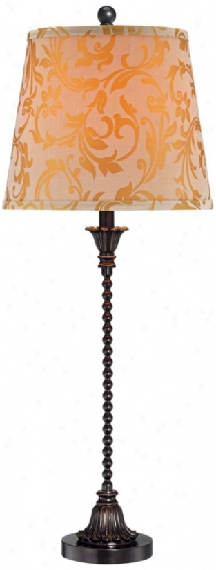 "Bronze 30 1/2"" High Stacked Bead Buffet Lamp (t8646)"