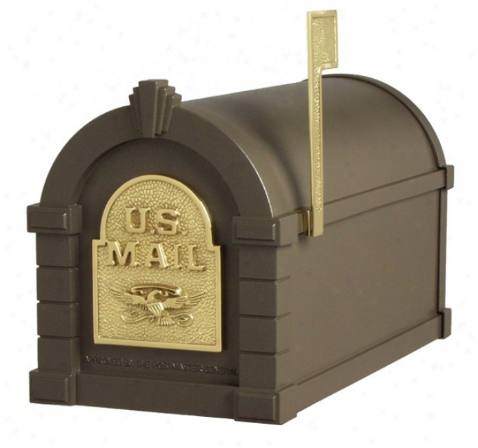 Bronze And Brass Keystoe Mailbox (30966)