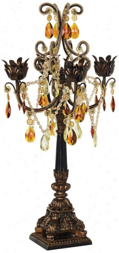 Bronze And Gold Four Taper Candle Candelabra (87600)