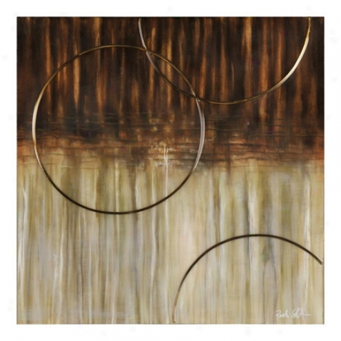 "Bronze Arc 35"" High Abstract Oil Painting (54509)"