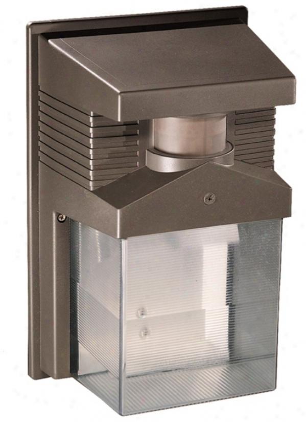 "Bronze Energy Star Motion Sensor 11"" High Outdoor Wall Illumine (k6500)"